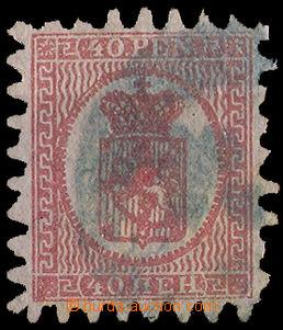 34920 - 1866 Mi.9C Znak, razítko nejasné, vpravo a nahoře kratší zou