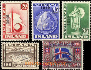 34923 - 1930/39 selection of Mi.218-20 World Exhibition (without hig
