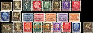 34931 - 1941 MONTENEGRO  overprint postage stmp Mi.24-32 + overprint