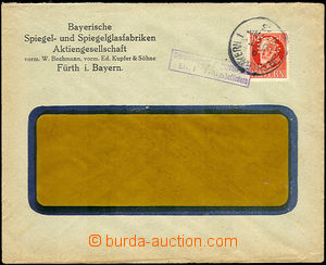 35014 - 1915 BAYERN (BAVARIA)  window commercial envelope with 10Pf