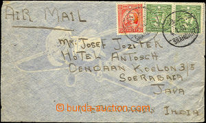 35028 - 1940 CHINA  airmail letter to Netherlands Indies, franked wi