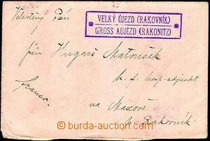 35069 - 1906 letter smaller format Us postal agency VELKÝ ÚJEZD (Rak