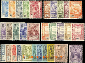 35072 - 1924 Mi.316-346, 342 torn corner, 317 fold, 343 lightly hing