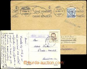 35081 - 1946/52 dopis s razítkem poštovny NEDAKONICE (Polešovice)