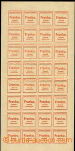 35088 - 1918 Newspaper stamp provisory  National policy Prague, Pof.
