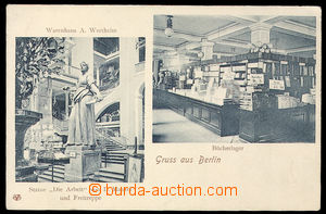 35105 - 1905 Gruss aus Berlin, Warenhaus A. Wertheim, Bücherlager,