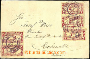 35136 - 1919 commercial PC franked with. 5 pcs of Austrian. express