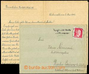 35140 - 1942 KT BUCHENWALD  dopis s obsahem zaslaný vězněm KT do