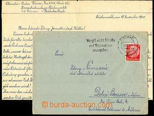 35142 - 1940 KT BUCHENWALD  dopis s obsahem zaslaný vězněm KT do