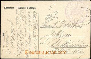 35153 - 1919 34. Pluk čs. legie / 10. rota, kruhové fialové raz.