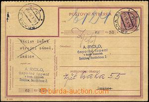 35161 - 1935 CPV12 I.část, (perforace 5½, 7 čar), prošlá,