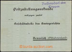 35230 - 1941 Boidensdorf über/ Troppau  postal agency pmk (Bohdanov