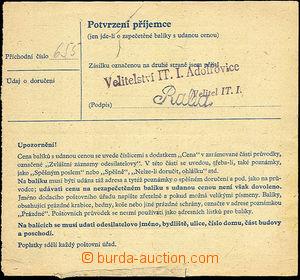 35350 - 1946 I.C. ADOLFOVICE  larger part parcel of dispatch-note fr
