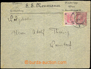 35395 - 1903 private postal stationery cover firm S.S.Neumann uprate