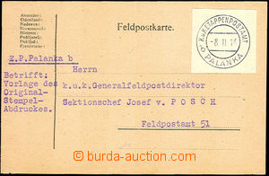 35407 - 1916 card sent to Gen. director FP with mounted cut-square c