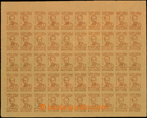 35555 - 1948-56 Mi.2b, 3b, 53, Ho Chi Minh, complete 50-stamps. shee