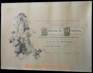 35590 - 1903 appointive diploma čestného citizen Jablonec n./J., d