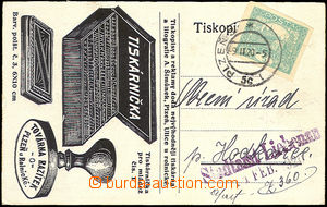 35635 - 1920 commercial PC with additional-printing Factory postmark