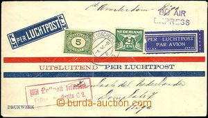 35649 - 1930 letecký dopis zaslaný do Litvy, vyfr. zn. Mi.107, 175