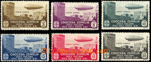 35692 - 1933 1933 airmails  Graf Zeppelin Mi.115-120, on 2pcs almost