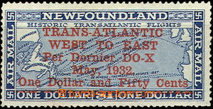 35695 - 1932 1932 Newfoundland airmail Mi.184 very well removed hing