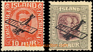 35697 - 1928-29 overprint air-mail Mi.122-123, very light hint of un