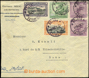 35706 - 1928 airmail letter with multicolor franking Mi.84, 2x 79, 4
