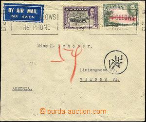 35775 - 1938 Let-dopis do Rakouska, vyfr. zn. Mi.238-9, SR s nečite