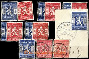 35798 - 1918 Pof.SK1, SK2  comp. 7 pcs of sets contains 1x cut squar