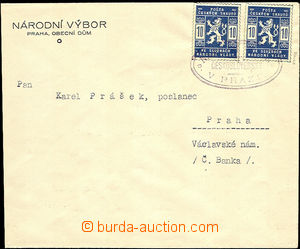 35800 - 1918 1918 Scout letter with two 10h, Pof.SK1, oval cnl. ČS.