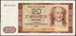 35809 - 1964 GDR  bank-note 20M, light fold, clear, quality 1-2