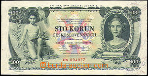 35811 - 1931 Czechoslovakia  bank-note 100Kčs, SPECIMEN, quality 0