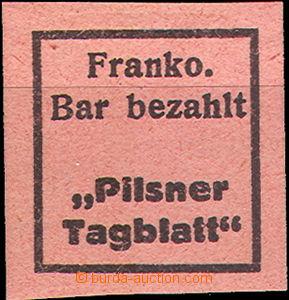 35879 - 1919 Newspaper stamp provisory - Pilsner Tagblatt Plzeň, Po