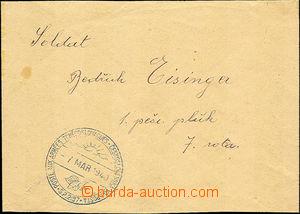 35888 - 1940 FP letter sent to Czechosl. member 1. infantry. regimen