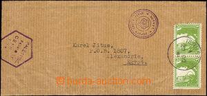 35899 - 1941 PALESTINA  novinová zálepka zaslaná z Jeruzalema 20.