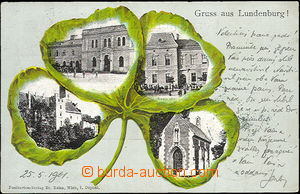 35933 - 1901 Břeclav - Lundenburg, collage four-leaf clover with 4