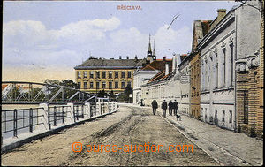 35934 - 1922 Břeclav -  street on/for quay Dyje/Thaya, colored, Us,