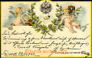 35939 - 1904  Austro-Hungarian post, eagle with post horn, telephone
