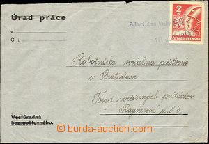35948 - 1945 Košické  dopis vyfr. zn. 2K, Pof.354, znehodnoceno prov