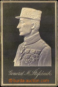 35979 - 1919? reliéfový portrét gen. M.R.Štefánika, jednobarevn