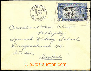 36034 - 1950 letter smaller format to Austria, with Mi.123, MC Hamil