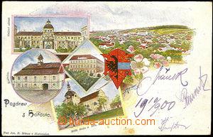 36083 - 1900 Hořovice, barevná kolážová pohlednice, DA, prošl�