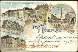 36084 - 1901 Pardubice -  barevná kolážová litho, DA, prošlá,
