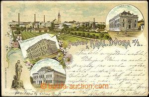36085 - 1899 Dvůr Králové nad Labem -  barevná kolážová litho