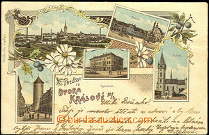 36091 - 1907 Dvůr Králové nad Labem -  barevná kolážová litho