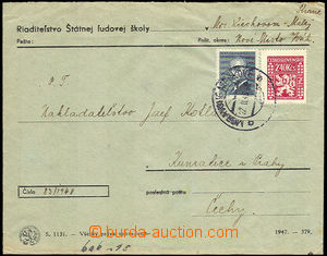 36144 - 1948 service letter franked with. mixed franking postage stm