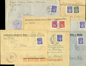 36145 - 1946-48 comp. 7 pcs of official letters franked with. servic