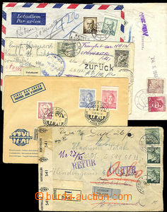 36184 - 1945-50 comp. 5 pcs of air-mail letters addressed 1x to Norw