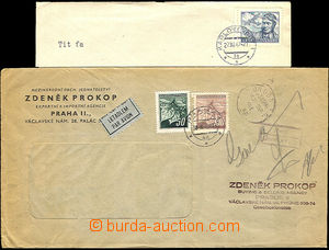 36199 - 1945-47 commercial window envelope sent by air mail to Engla