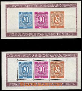 36216 - 1946 ALIANČNÍ  Mi.2x 924-5+929, Block 12A + 12B Exhibition